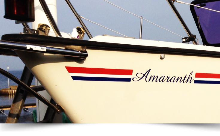 Namndekal båt