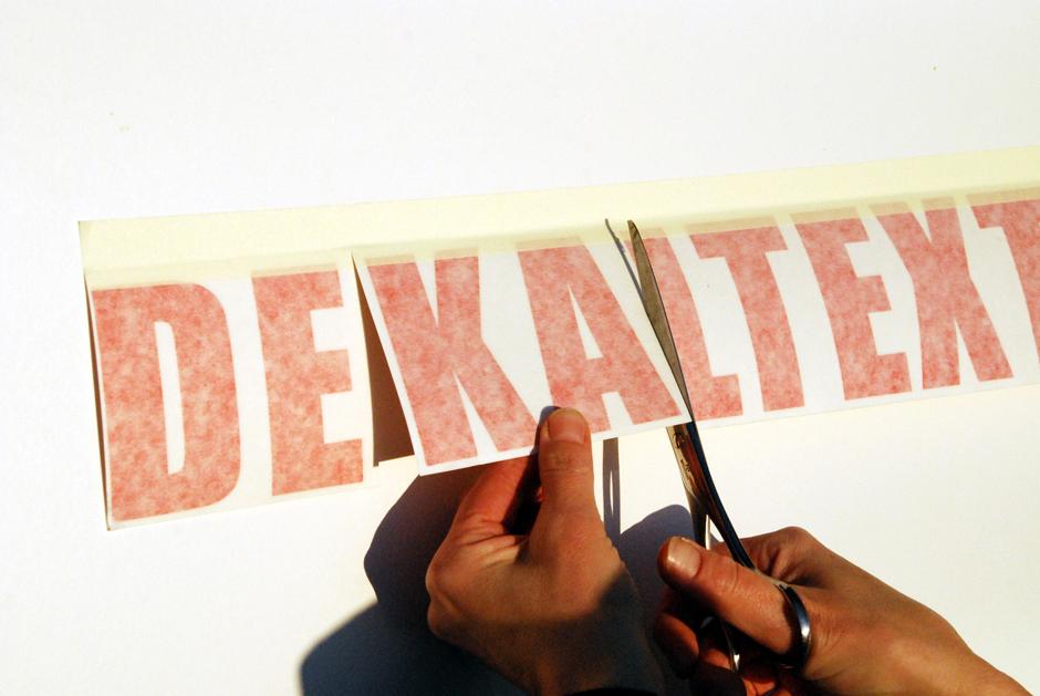 Montering självhäftande dekaler