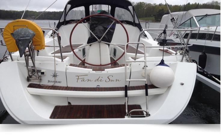 Namntext till båt