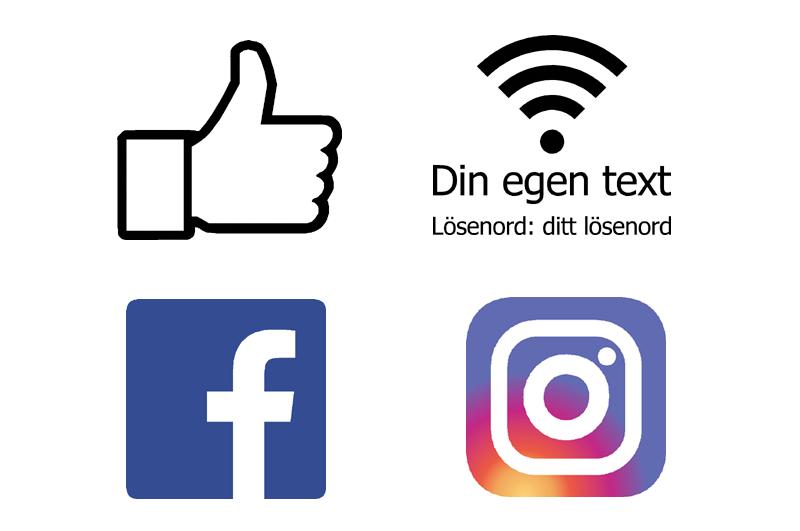 Instagram Facebook dekaler