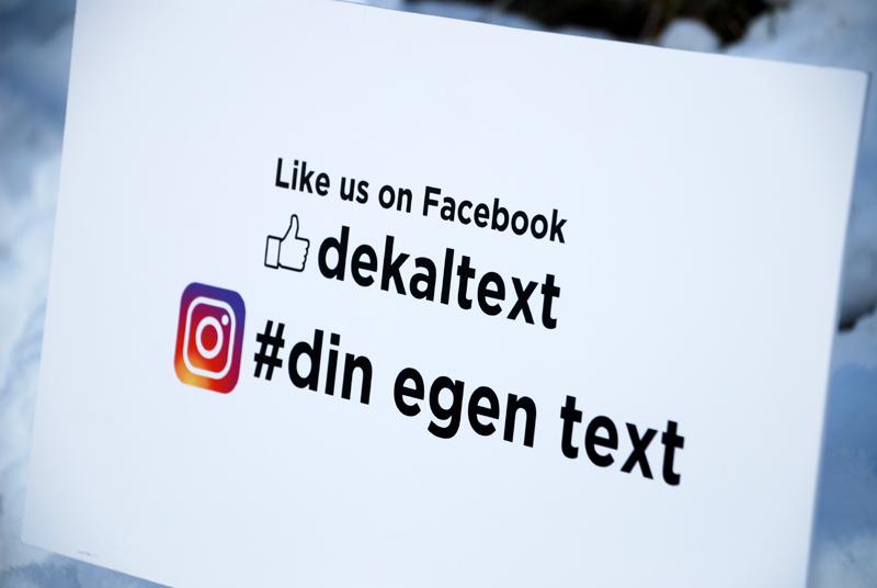 Facebook och Instagramdekaler
